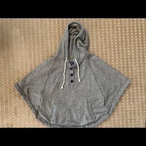American Eagle Outfitters poncho hoodie size XS